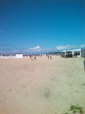J1 1 arrivée plage Socoa