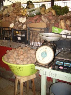 Marché aux légumes à Mindelo