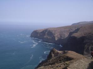 Sentier côtier vers Meio de Espanha